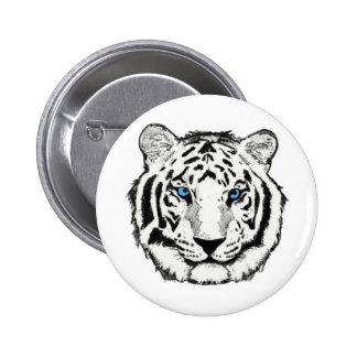 Botón blanco del tigre pin