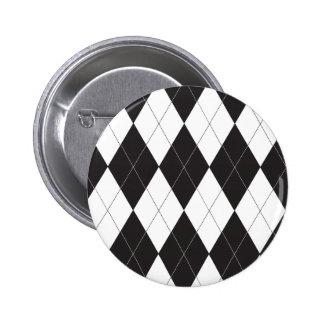 Botón blanco y negro de Argyle Pins