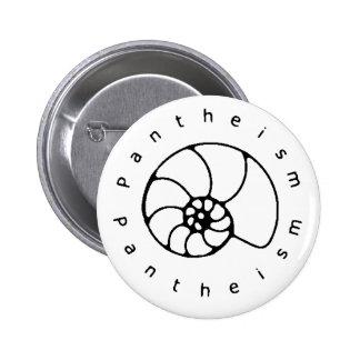 Botón blanco y negro del panteísmo pin redondo de 2 pulgadas