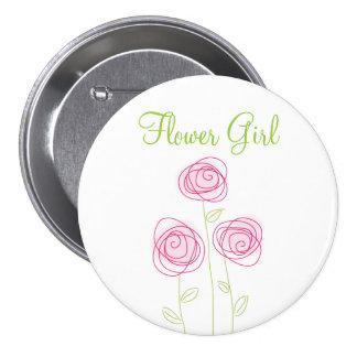 Botón bonito del ensayo de los ramilletes del flor pin