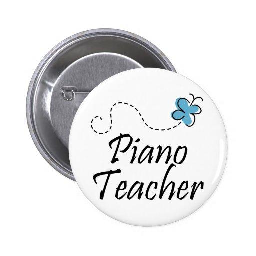 Botón bonito del profesor de piano pins