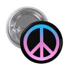 Botón bonito del símbolo de paz pins