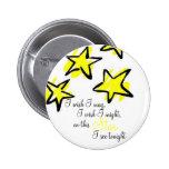 Botón brillante de la estrella pin