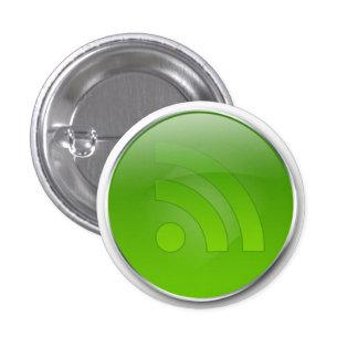 Botón brillante del verde RSS