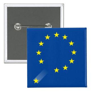 Botón BRITÁNICO de Brexit Pin Cuadrado