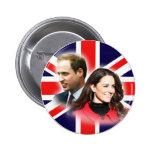 Botón británico de la bandera de Guillermo y de Ka Pins