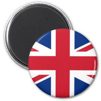 Botón británico de la bandera imán redondo 5 cm