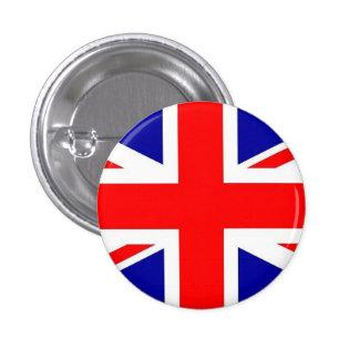 Botón BRITÁNICO de la bandera Pin Redondo De 1 Pulgada