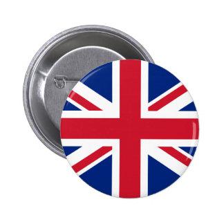 Botón BRITÁNICO de la bandera Pin Redondo De 2 Pulgadas