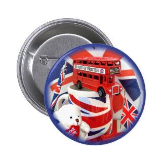 Botón británico del de los recuerdos pin
