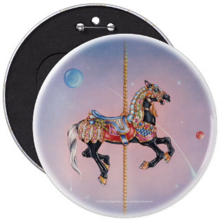 Botón - caballo 1 del carrusel de Petaluma Pins