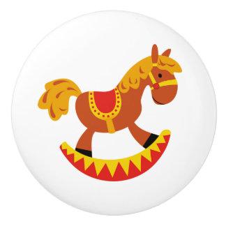 Botón/caballo mecedora de cerámica pomo de cerámica