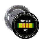 Botón cabelludo gris del veterinario de Vietnam Pin