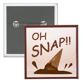 Botón caído del cono de helado pin cuadrado