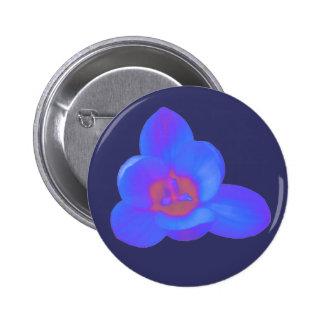 Botón caliente y frío de la flor del azafrán pin redondo de 2 pulgadas