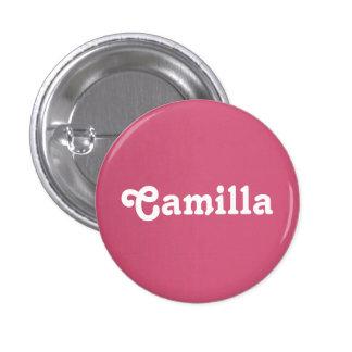 Botón Camila Pin Redondo De 1 Pulgada