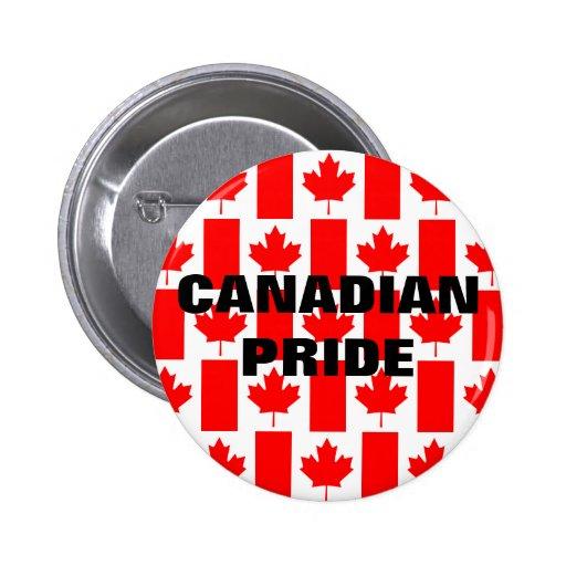 Botón canadiense de la bandera del modelo del orgu pins