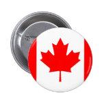 Botón canadiense de la bandera pin redondo de 2 pulgadas