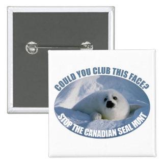 Botón canadiense de la caza del sello pin