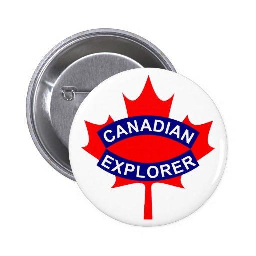 Botón canadiense del explorador pin redondo de 2 pulgadas