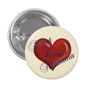 Botón casero dulce de Alabama Pins