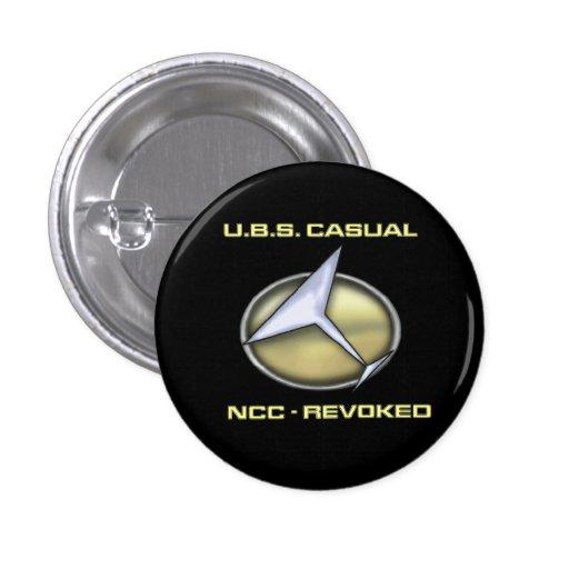 Botón casual de U.B.S mini Pin Redondo De 1 Pulgada
