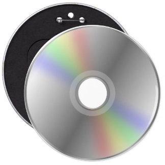 Botón CD del DVD Pin Redondo De 6 Pulgadas