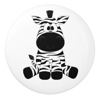 Botón/cebra de cerámica pomo de cerámica
