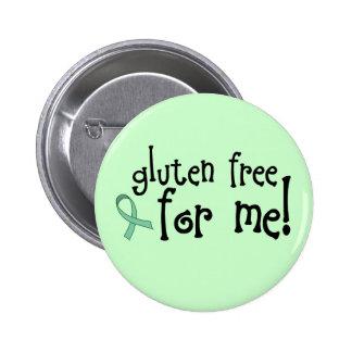 Botón celiaco libre del gluten pin