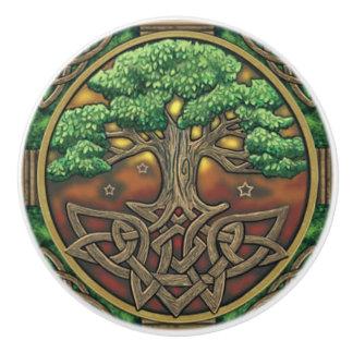 Botón céltico de la puerta o del cajón pomo de cerámica