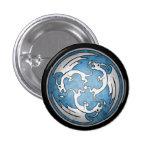 Botón céltico del dragón - azul pins