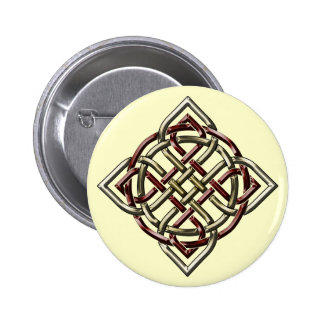 Botón céltico del nudo del escudo pin redondo de 2 pulgadas