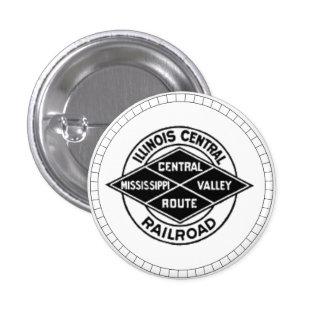 Botón central del logotipo del vintage del pin redondo de 1 pulgada