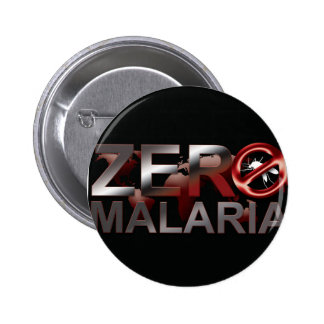 Botón cero de la malaria pin redondo de 2 pulgadas