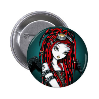 Botón cibernético del ángel del gótico del tatuaje pins