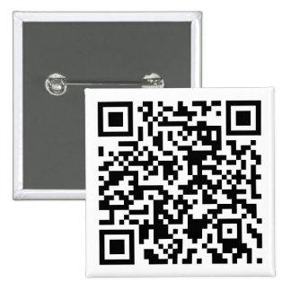 Botón cifrado QR - personalizable Pin Cuadrado
