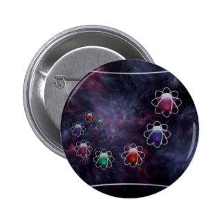 Botón circular del razonamiento pin