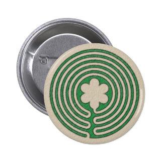 Botón clásico del laberinto pin