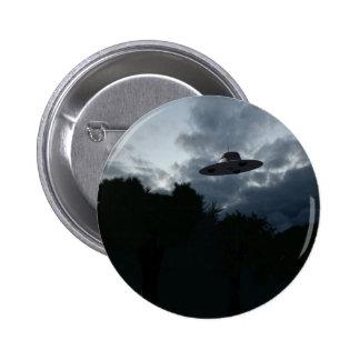 Botón clásico del platillo volante pin redondo de 2 pulgadas