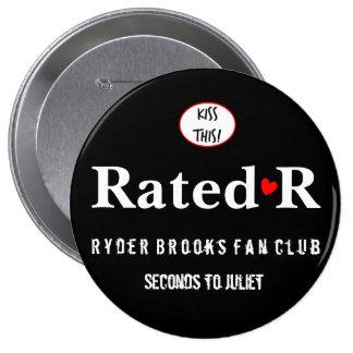 Botón clasificado de R Pin Redondo De 4 Pulgadas