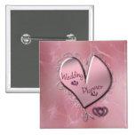Botón color de rosa del planificador del boda pin