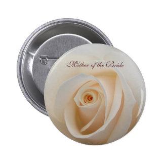 Botón color de rosa floral del boda con la plantil pins