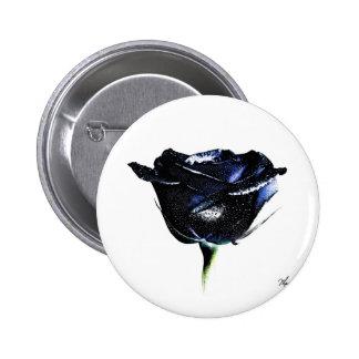 Botón color de rosa negro