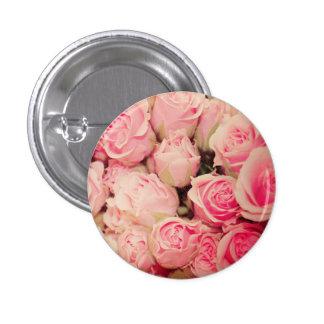 Botón color de rosa rosado pin redondo de 1 pulgada