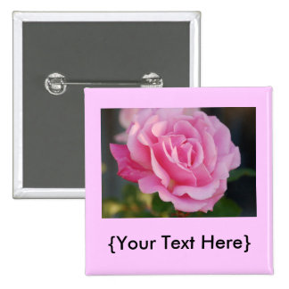 Botón color de rosa rosado pins