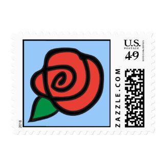 Botón color de rosa envio