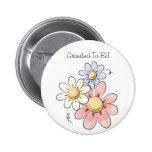 Botón colorido de la abuela de las flores pin