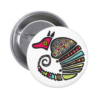 Botón colorido del armadillo pins