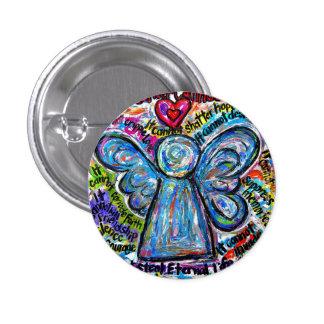 Botón colorido del arte de la pintura del ángel pin redondo de 1 pulgada