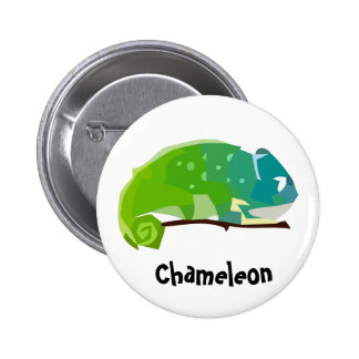 Botón colorido del camaleón pin redondo de 2 pulgadas